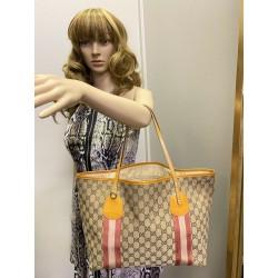 GUCCI GG Canvas Jolie Large Patent LEATHER Tote Shoulder Bag