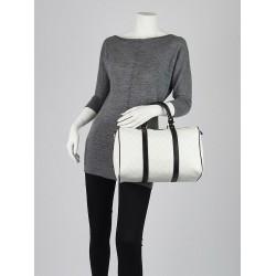 GUCCI White/Black GG Canvas Joy Boston MEDIUM Satchel Handbag