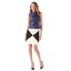 NEW Milly Colorblock Pencil Skirt SZ 10 WOOL RARE SOLD OUT