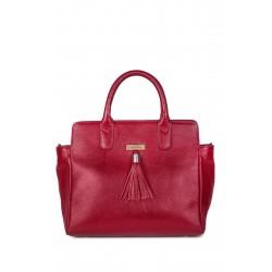 Onna Ehrlich Jennifer RED Leather Shoulder Bag