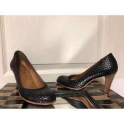 b03c5553b98 CC CORSO COMO Woven Leather Black Brazil High Heel Shoes SZ 6.5