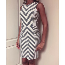 Milly Graphic Sleeveless Strapless Striped Print Mini Dress Size 4