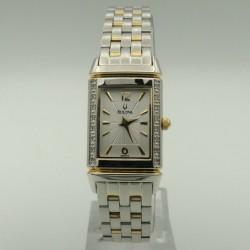 BULOVA 98R113 Diamonds Gold Plated Womens Watch