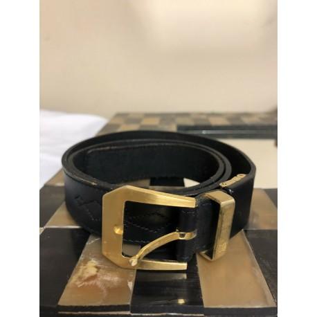 DAKS LONDON England UK Black Leather Womens Belt XS