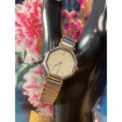 Yves Saint Laurent YSL 2200 Gold Plated Quartz Octagonal Two-Tone Vintage Watch
