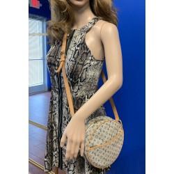 LOUIS VUITTON Blue Monogram Mini Lin Jeanne GM Crossbody Shoulder Bag