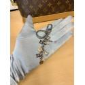 Louis Vuitton Fleur de Monogram Charm Metallic Keyring Chain Bag