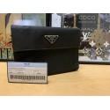 PRADA Portafoglio Tessuto BLACK NERO Nylon Trifold Wallet M510
